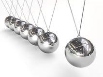 ισορροπώντας λίκνο Newton s σφα& διανυσματική απεικόνιση