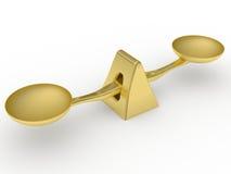 ισορροπώντας χρυσό βάρος & Στοκ εικόνες με δικαίωμα ελεύθερης χρήσης