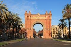 Ισπανία Βαρκελώνη Arc de Triomphe Στοκ εικόνα με δικαίωμα ελεύθερης χρήσης