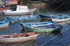 Ισπανία, Γαλικία, Κεντρική και Ανατολική Ευρώπη, αλιευτικά σκάφη Στοκ Φωτογραφίες