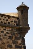 Ισπανία η παλαιά πόρτα τοίχων caand teguise arrecife Lanzarote Στοκ Εικόνες