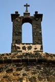 Ισπανία ο παλαιός τοίχος teguise arrecife Lanzarote Στοκ Εικόνες
