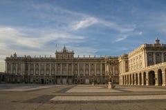 Ισπανία παλάτι pincipal βασιλική δευτερεύουσα Ισπανία της Μαδρίτης Στοκ Φωτογραφίες