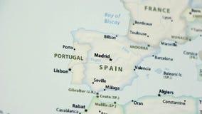 Ισπανία σε έναν χάρτη Defocused διανυσματική απεικόνιση