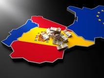 Ισπανία σε UE Στοκ Φωτογραφίες