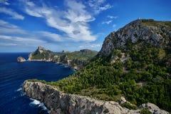 Ισπανία Majorca ΚΑΠ de Formentor Στοκ Φωτογραφία