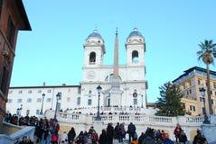 Ισπανικά βήματα, ισπανικά βήματα, ισπανικά βήματα, ορόσημο, πόλη, τουρισμός, χώρος λατρείας Στοκ Εικόνες