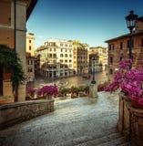ισπανικά βήματα της Ρώμης Στοκ εικόνα με δικαίωμα ελεύθερης χρήσης
