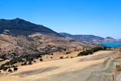 Ισπανικά βουνά κοντά Zahara de Λα Sierra Στοκ Εικόνες