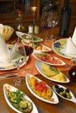ισπανικά επιτραπέζια tapas τιμή&sig Στοκ Εικόνες