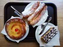 Ισπανικά επιδόρπια στο πιάτο Στοκ φωτογραφία με δικαίωμα ελεύθερης χρήσης