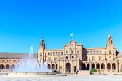 Ισπανικά τετράγωνο & x28 Plaza de Espana& x29  στη Σεβίλλη Στοκ Φωτογραφία