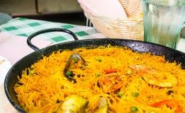 Ισπανικά τρόφιμα, νουντλς paella Στοκ φωτογραφίες με δικαίωμα ελεύθερης χρήσης