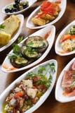 ισπανικά tapas πιάτων Στοκ εικόνα με δικαίωμα ελεύθερης χρήσης