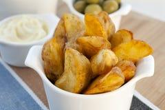 ισπανικά tapas patatas bravas Στοκ Φωτογραφία