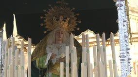 Ισπανικές ιερές πομπές εβδομάδας, εβδομάδα Πάσχας (Semana Santa) απόθεμα βίντεο