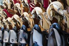 Ισπανικές σχολικές σέλες ιππασίας στοκ εικόνα