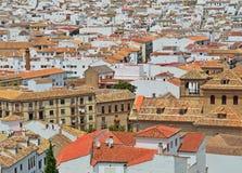Ισπανική άσπρη πόλη Antequera Στοκ εικόνα με δικαίωμα ελεύθερης χρήσης