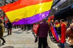 Ισπανική Δημοκρατία Μάρτιος - Vigo στοκ φωτογραφία με δικαίωμα ελεύθερης χρήσης