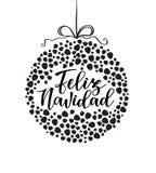 Ισπανική εγγραφή τυπογραφίας ` Feliz navidad ` Στοκ εικόνες με δικαίωμα ελεύθερης χρήσης