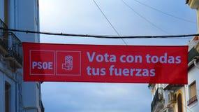 Ισπανική εθνική εκλογή στις 28 Απριλίου 2019 στοκ φωτογραφίες