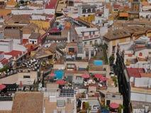 Ισπανική εικονική παράσταση πόλης Στοκ εικόνα με δικαίωμα ελεύθερης χρήσης