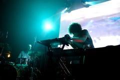 Ισπανική ηλεκτρονική ζώνη Boreals στη συναυλία στον ήχο 2015 Primavera σκηνών Apolo Στοκ φωτογραφία με δικαίωμα ελεύθερης χρήσης
