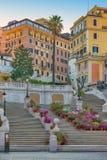 ισπανική κορυφή βημάτων της Ρώμης monti της Ιταλίας dei εκκλησιών trinit Στοκ φωτογραφία με δικαίωμα ελεύθερης χρήσης