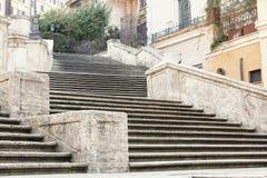 ισπανική κορυφή βημάτων της Ρώμης monti της Ιταλίας dei εκκλησιών trinit στοκ φωτογραφία