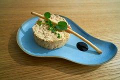 Ισπανική σαλάτα πατατών με τη σαλάτα Στοκ Εικόνες