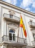 Ισπανική σημαία σε Cartegena Στοκ Εικόνες