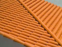 Ισπανική στέγη κεραμιδιών στοκ εικόνα