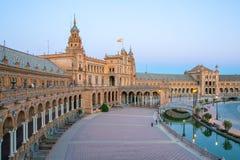 Ισπανική τετραγωνική Σεβίλη Ισπανία Στοκ φωτογραφίες με δικαίωμα ελεύθερης χρήσης