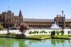 Ισπανική τετραγωνική Σεβίλη Στοκ φωτογραφία με δικαίωμα ελεύθερης χρήσης