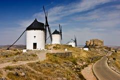 ισπανικοί ανεμόμυλοι Στοκ Εικόνες
