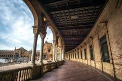 Ισπανικοί Plaza διάδρομοι της Σεβίλης στοκ φωτογραφίες με δικαίωμα ελεύθερης χρήσης