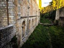 Ισπανικός μεσαιωνικός τοίχος του Castle Στοκ Εικόνα