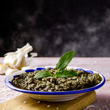 Ισπανικός νέγρος arroz ή μαύρο paella Στοκ Εικόνες