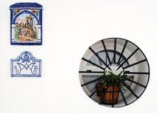 ισπανικός τοίχος σπιτιών Στοκ Φωτογραφία