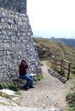 ισπανικός τουρίστας κάστρων Στοκ εικόνα με δικαίωμα ελεύθερης χρήσης
