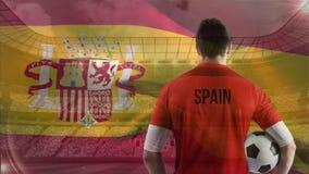 Ισπανικό βίντεο σημαιών απόθεμα βίντεο