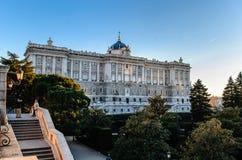 Ισπανικό βασιλικό παλάτι Στοκ εικόνα με δικαίωμα ελεύθερης χρήσης