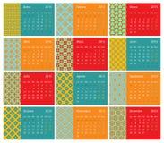 Ισπανικό ημερολόγιο 2015 Στοκ Εικόνα