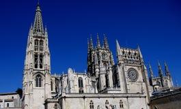 Ισπανικό ορόσημο του Burgos Cathedral Στοκ εικόνα με δικαίωμα ελεύθερης χρήσης