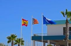 Ισπανικό πέταγμα σημαιών στοκ εικόνες με δικαίωμα ελεύθερης χρήσης
