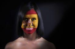 Ισπανικό πρόσωπο σημαιών Στοκ Εικόνες
