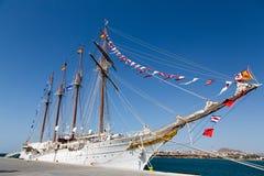 Ισπανικό σκάφος J.S. de ElCano κατάρτισης ναυτικού Στοκ Φωτογραφία