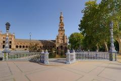 Ισπανικό τετράγωνο στη Σεβίλλη, Plaza de España, Ισπανία Στοκ εικόνα με δικαίωμα ελεύθερης χρήσης