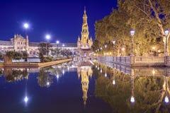 Ισπανικό τετράγωνο της Σεβίλης, Ισπανία στοκ φωτογραφίες με δικαίωμα ελεύθερης χρήσης
