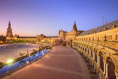 Ισπανικό τετράγωνο της Σεβίλης, Ισπανία Στοκ Εικόνες